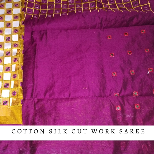 Cotton Silk Cutwork Sarees