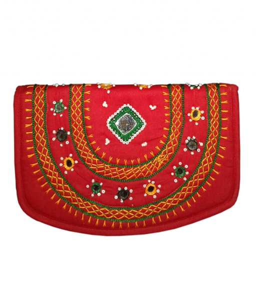 Red Applique Bag