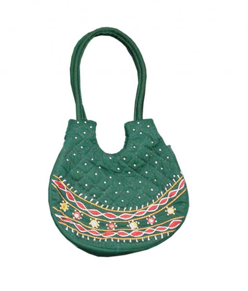 Green Applique Bag