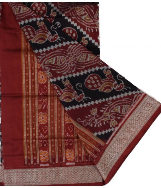 Peacock Pattern Sambalpuri Silk Saree
