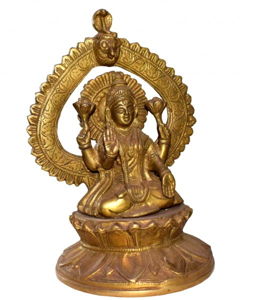 Brass Made Goddess Laxmi Statue