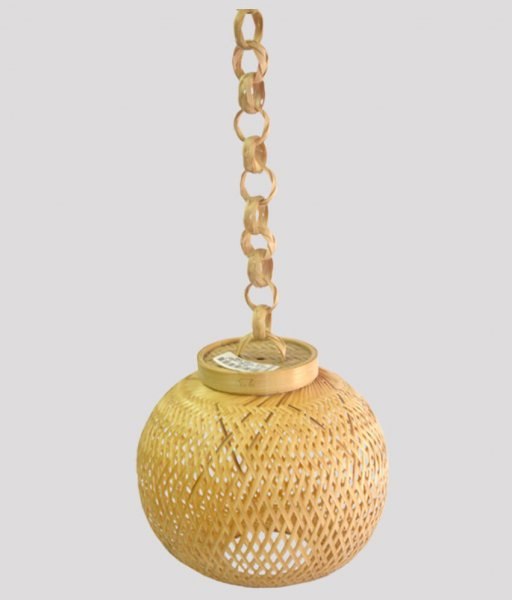 Wooden Hanging Golak Lamp
