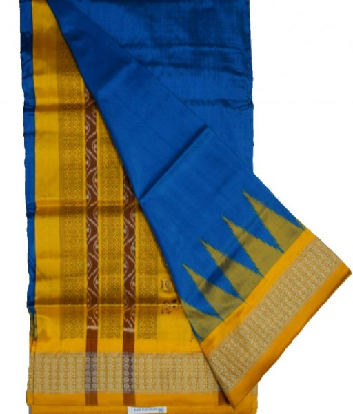 Sky Bomkai Silk Saree