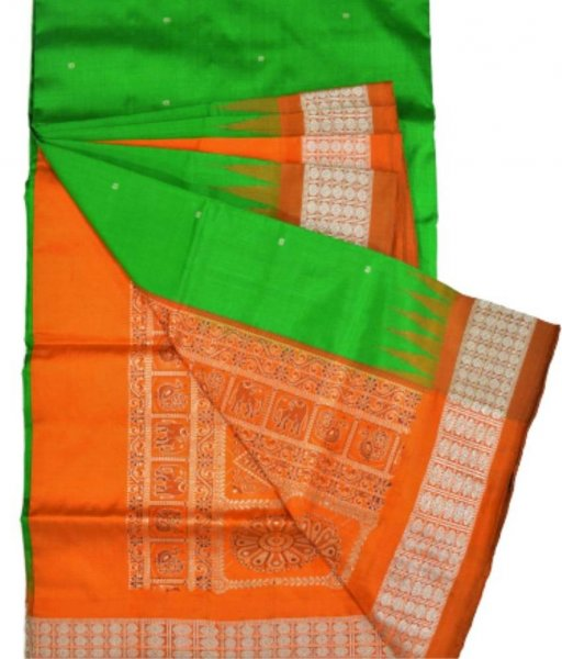 Bomkai Ikat Silk Saree