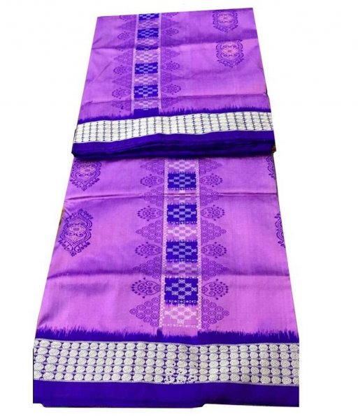 Purple Sambalpuri Silk Saree