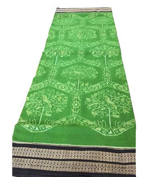 Green Sambalpuri Cotton Saree