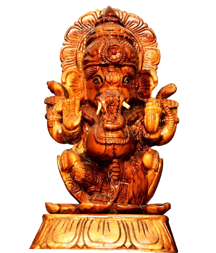 Lord Ganesh Wooden Statue