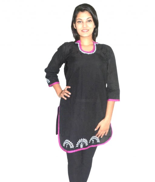 Black Soura Painting Kurti