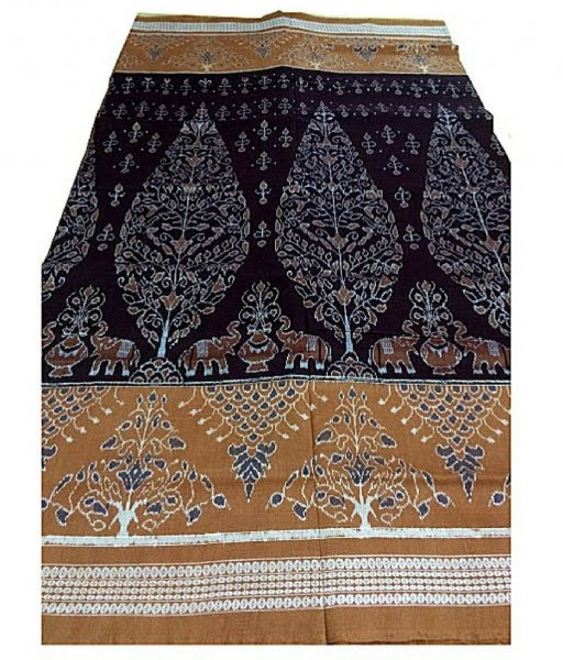 Black & Brown Sambalpuri Ikat Saree
