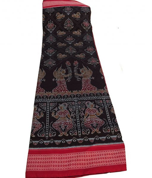 Black Nartaki Sambalpuri Cotton Saree