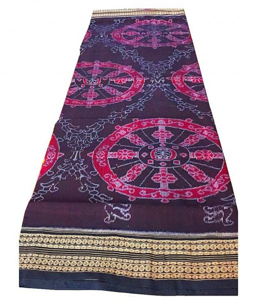Black Sambalpuri Ikat Saree