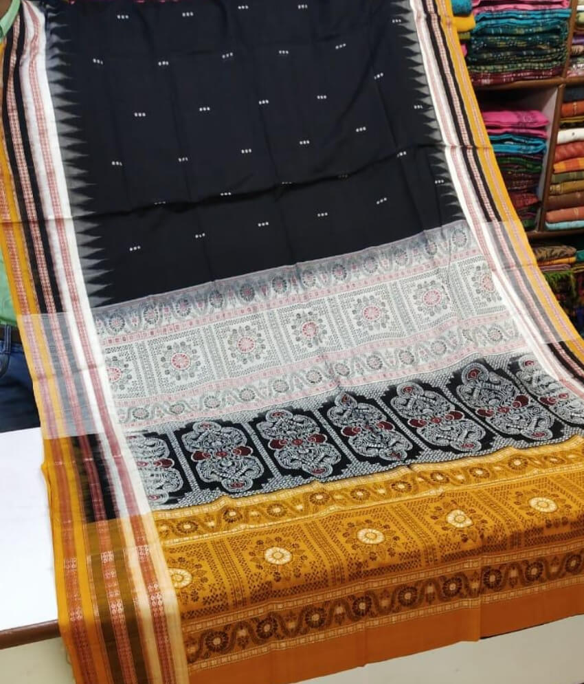 Black Sambalpuri Saree