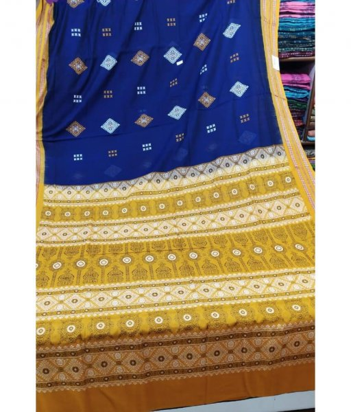 Blue Sambalpuri Saree