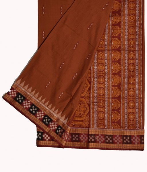 Border Pasapali Sambalpuri Cotton Saree