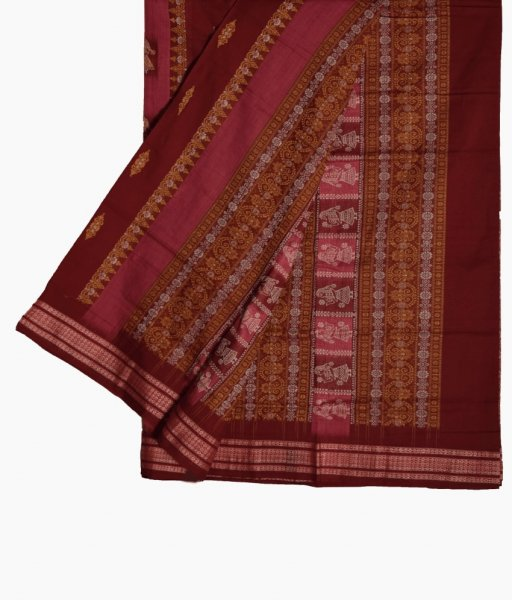 Body design Sambalpuri cotton Saree
