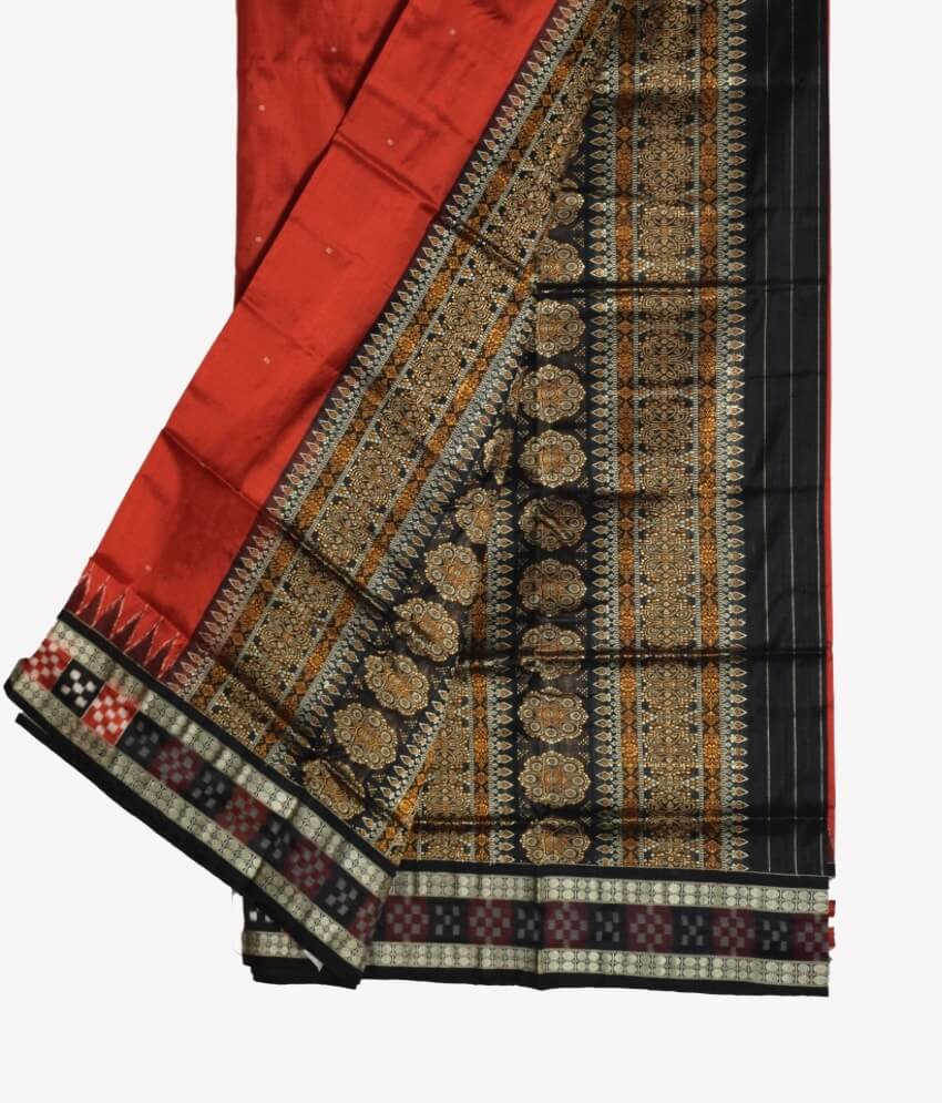 Border Pasapali Bomkai Silk Saree