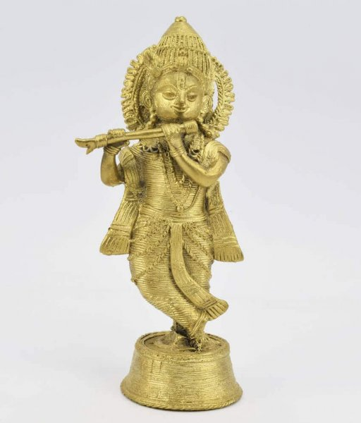 Brass Made Lord Krishna Statue