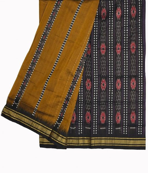 Brown Bomkai Cotton Saree