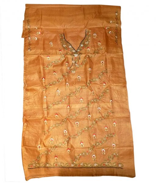 Brown Tussar Silk Suit PIece