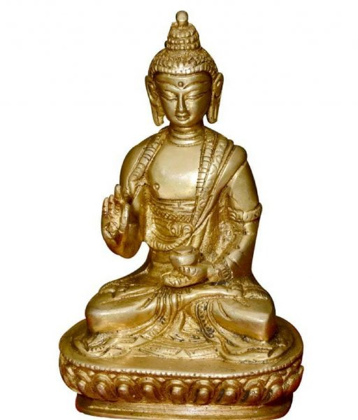 Brass Made meditation Budha Statue