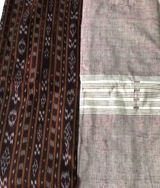 Coffee Color Sambalpuri Suit Piece