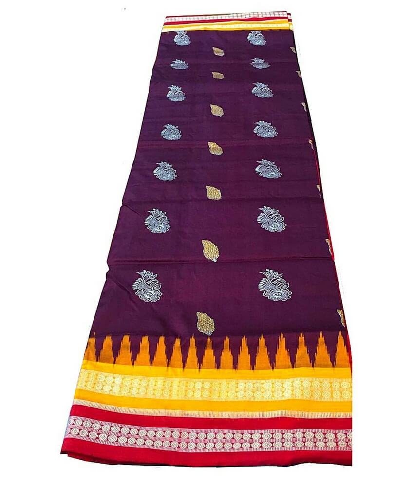 Coffee Sambalpuri Silk Saree