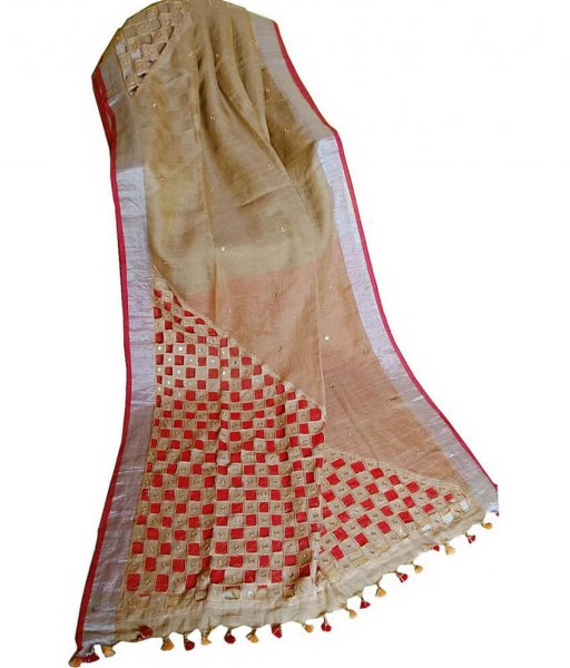 Cut Work Embroidery Saree