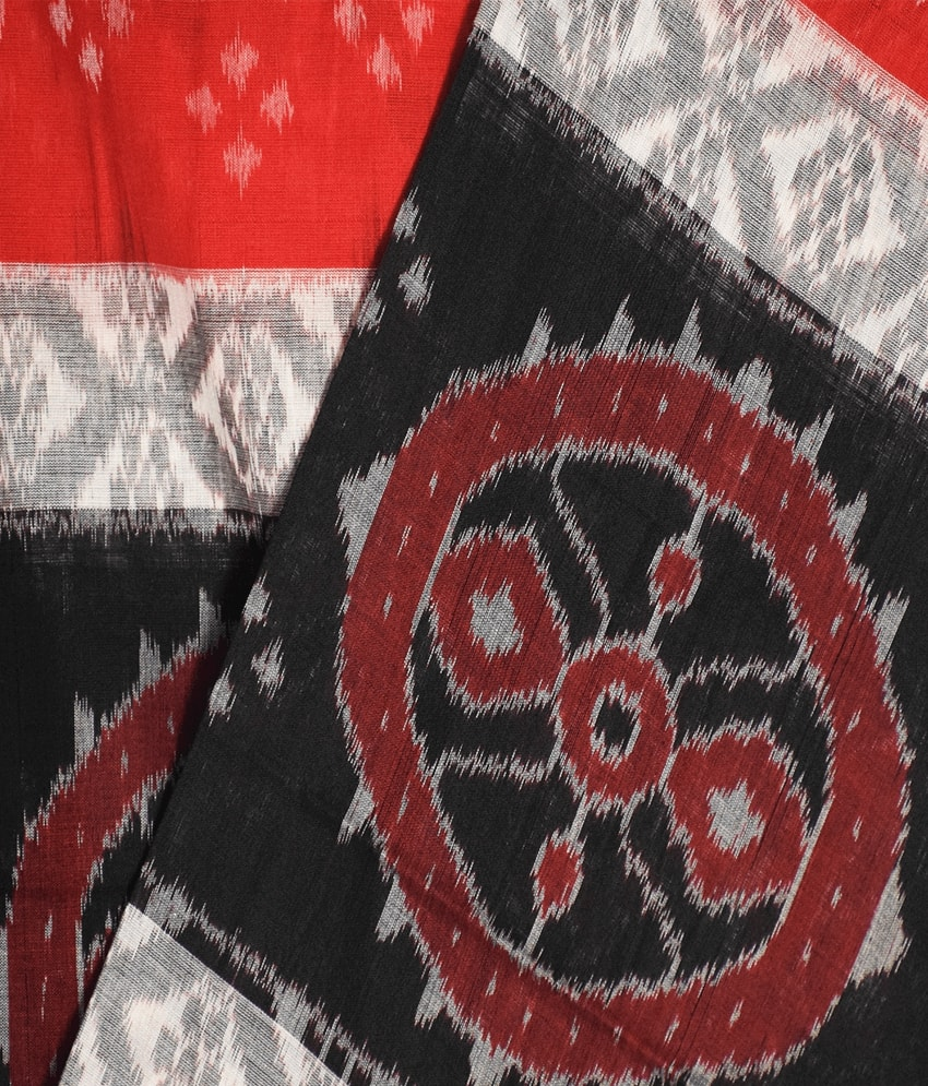 Red & Black Traditional Khandua Saree
