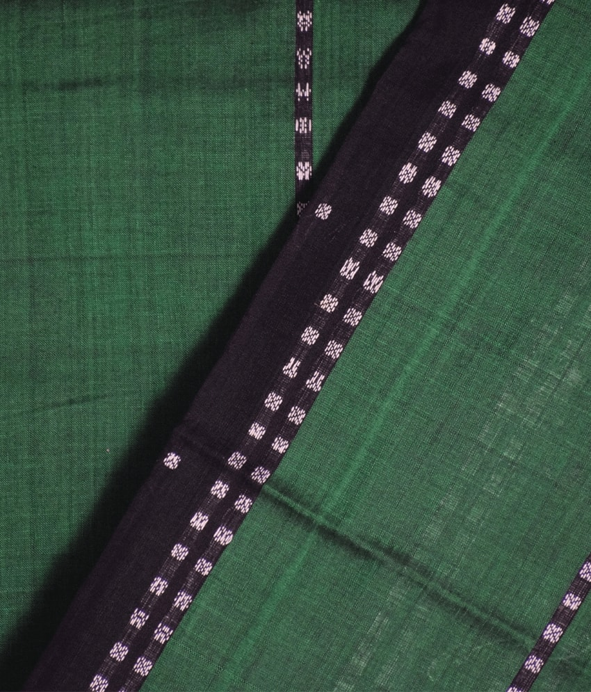 Green Bomkai Cotton Saree