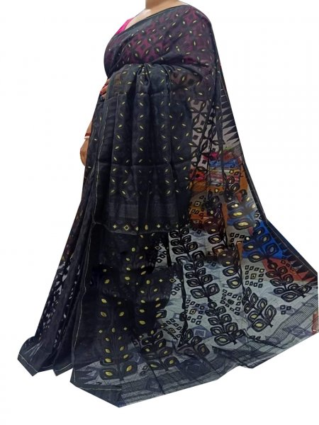 Black dhakai jamdani high quality saree