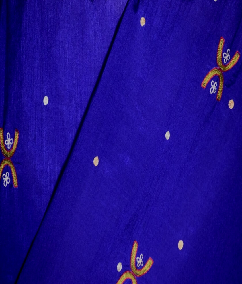 Blue Tussar Silk Saree