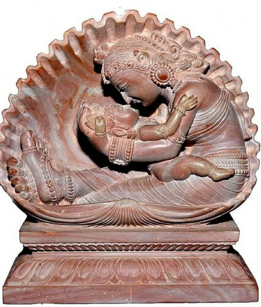 Fine Carving Little Krishna With His Mother