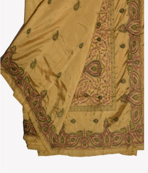 Pattachitra Floral Hand Painted Saree