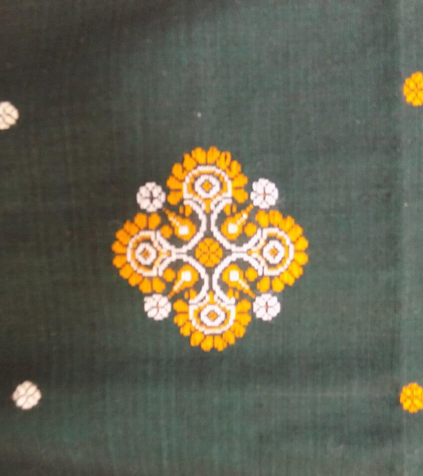 Green Color Sambalpuri Dress