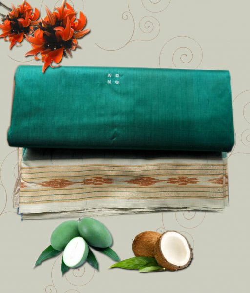 Green Silk Khandua Patta Saree