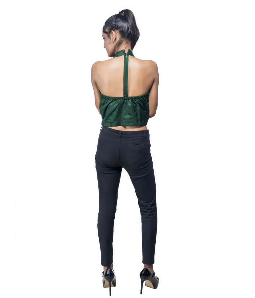 Backless Ikat Crop Top