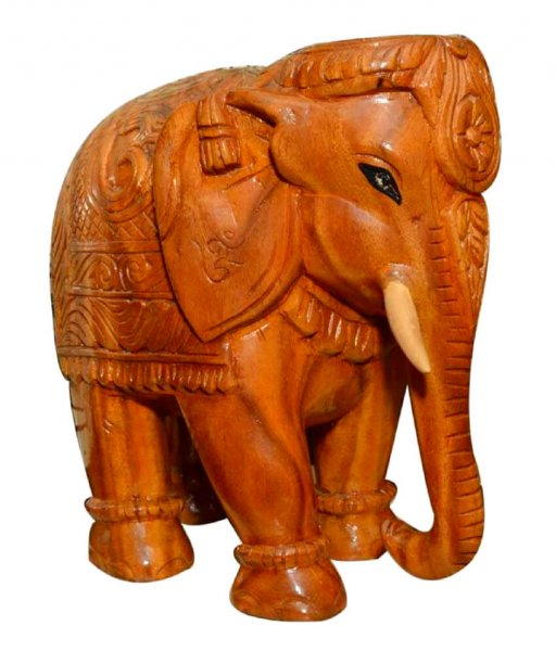 Handcrafted Wood Made Elephant