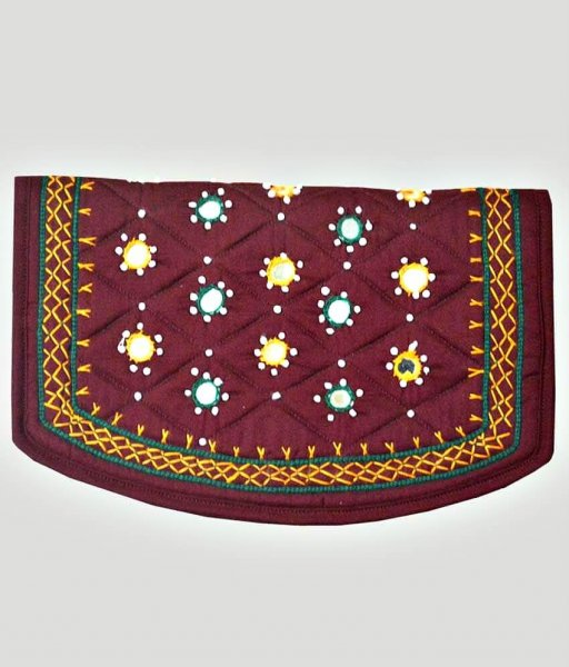 Brown  Applique Bag