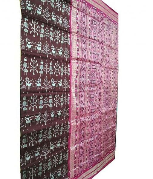 Handwoven Tribal Sambalpuri Silk Saree