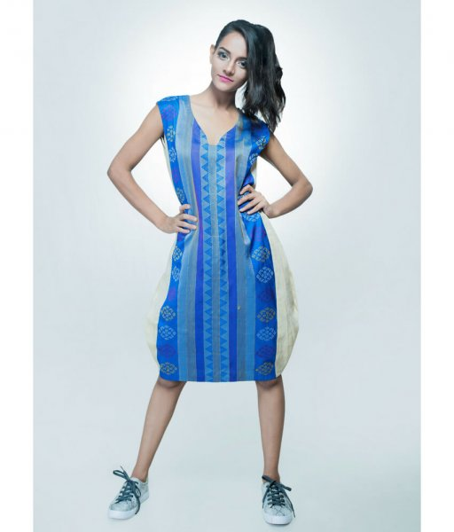 Ikat Balloon Dress
