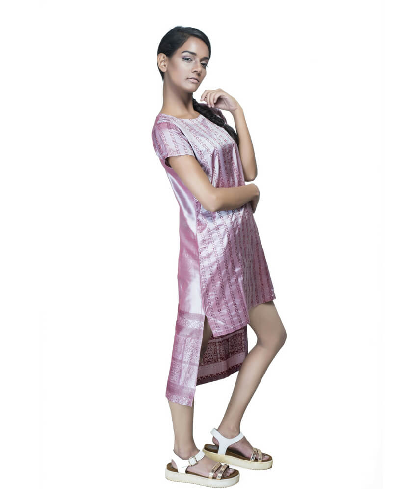 Ikat High Low High-Lighter Dress