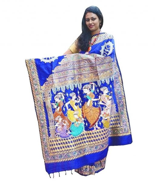 Pattachitra Hand Painted Saree