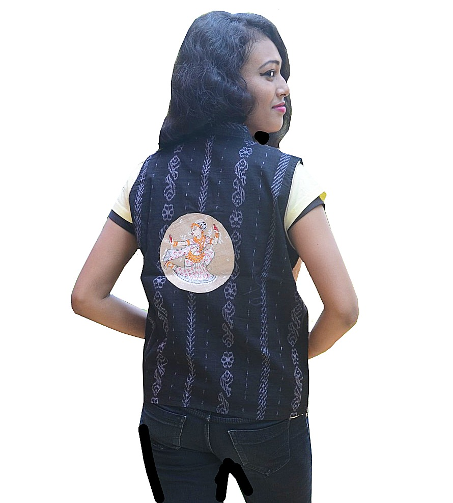 Rasleela Pattachitra Painting Half Jacket