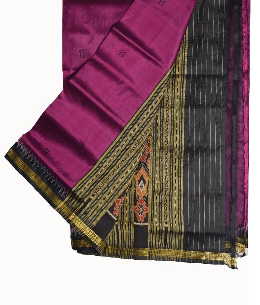 Purple Khandua Silk Saree