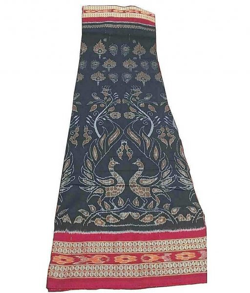 Black Peacock Sambalpuri Saree
