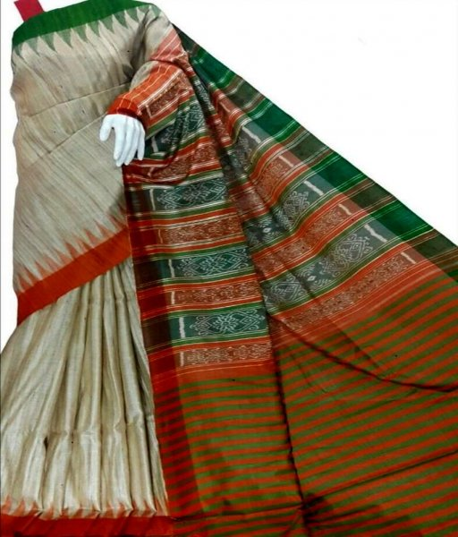 Tussar Handwoven Saree