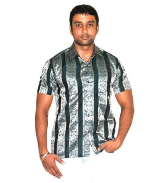 Green Sambalpuri Shirt