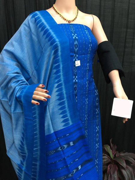 Blue ikat salwar suit piece