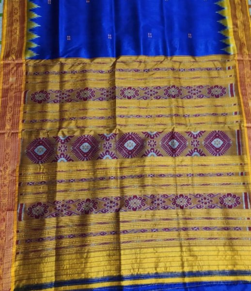 Blue and Yellow handwoven
