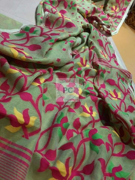 Dhakai Jamdani Multi  Colour & Design Saree